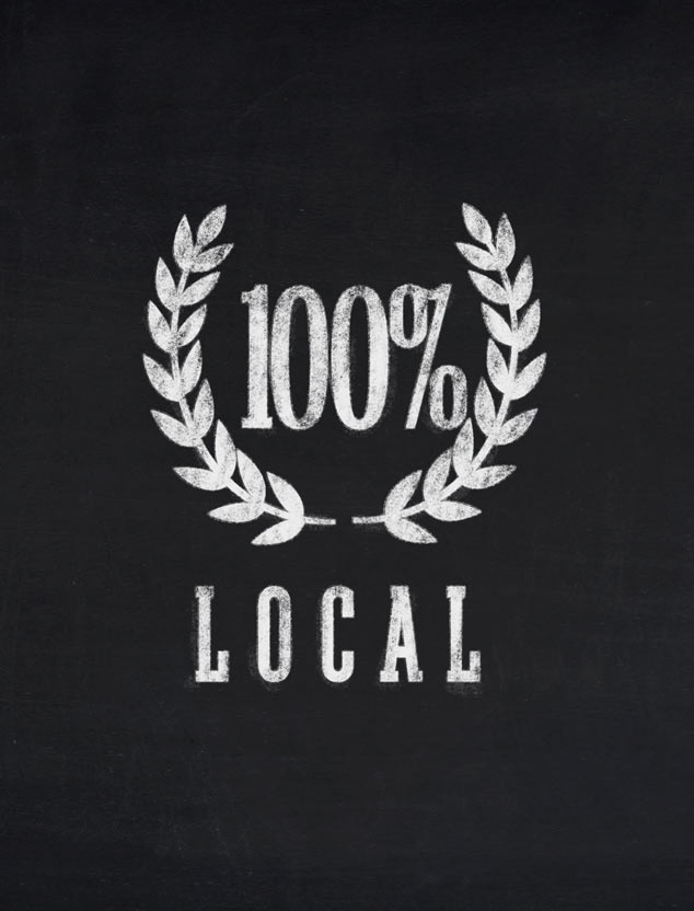 100% Local graphic