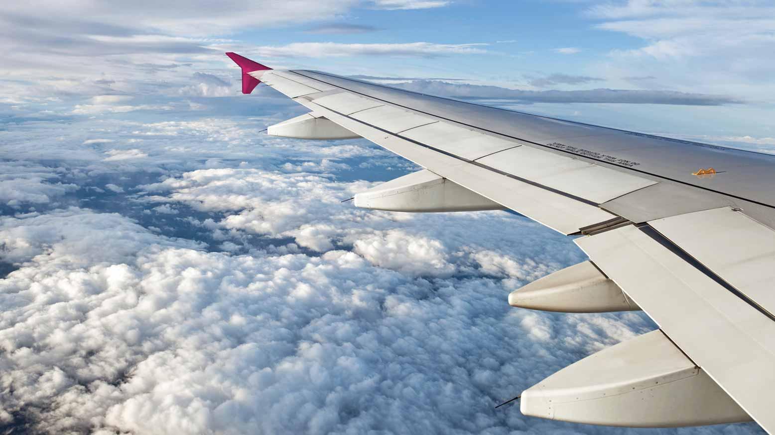 Clouds viewed from a passenger aircraft