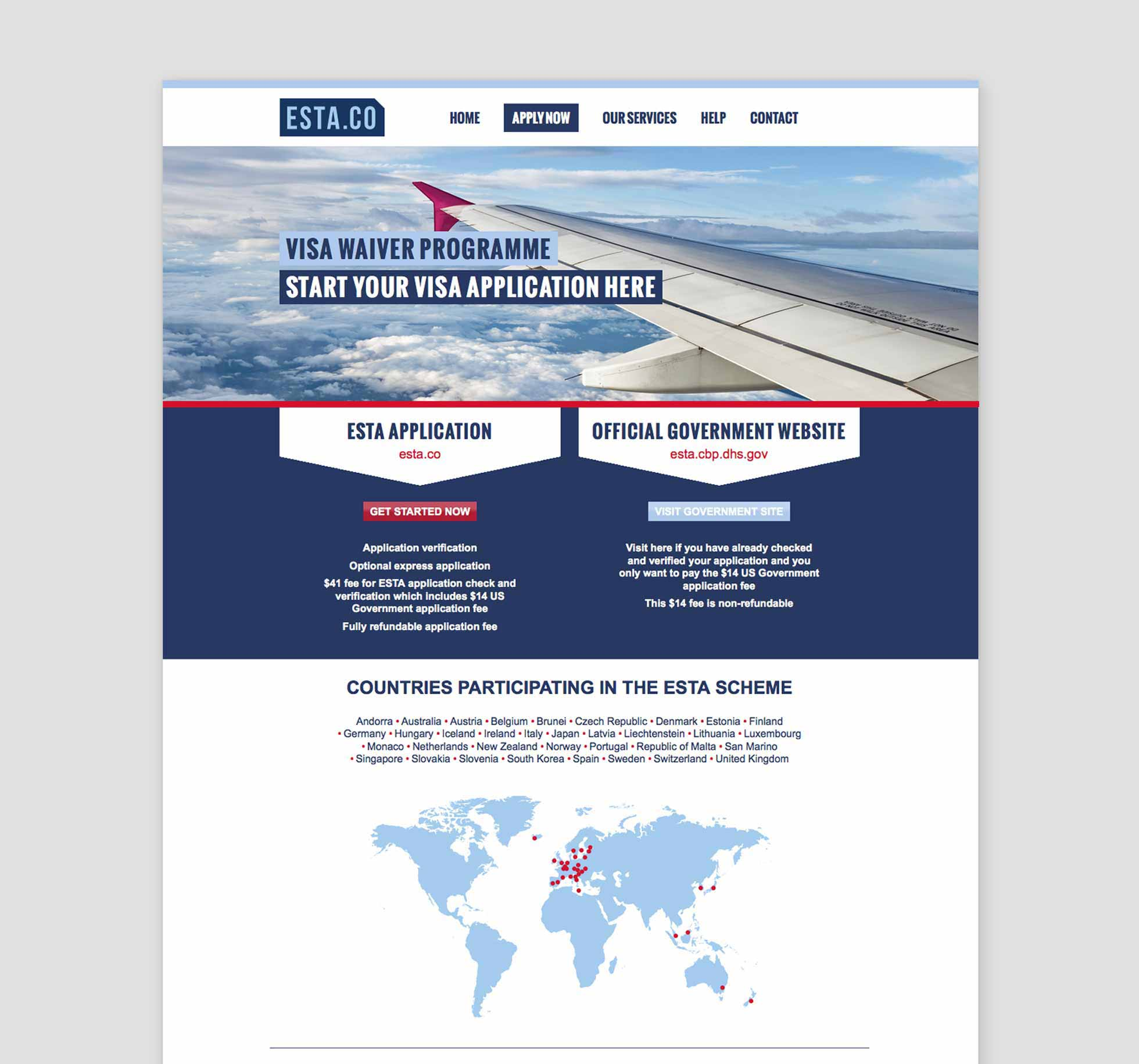 ESTA website