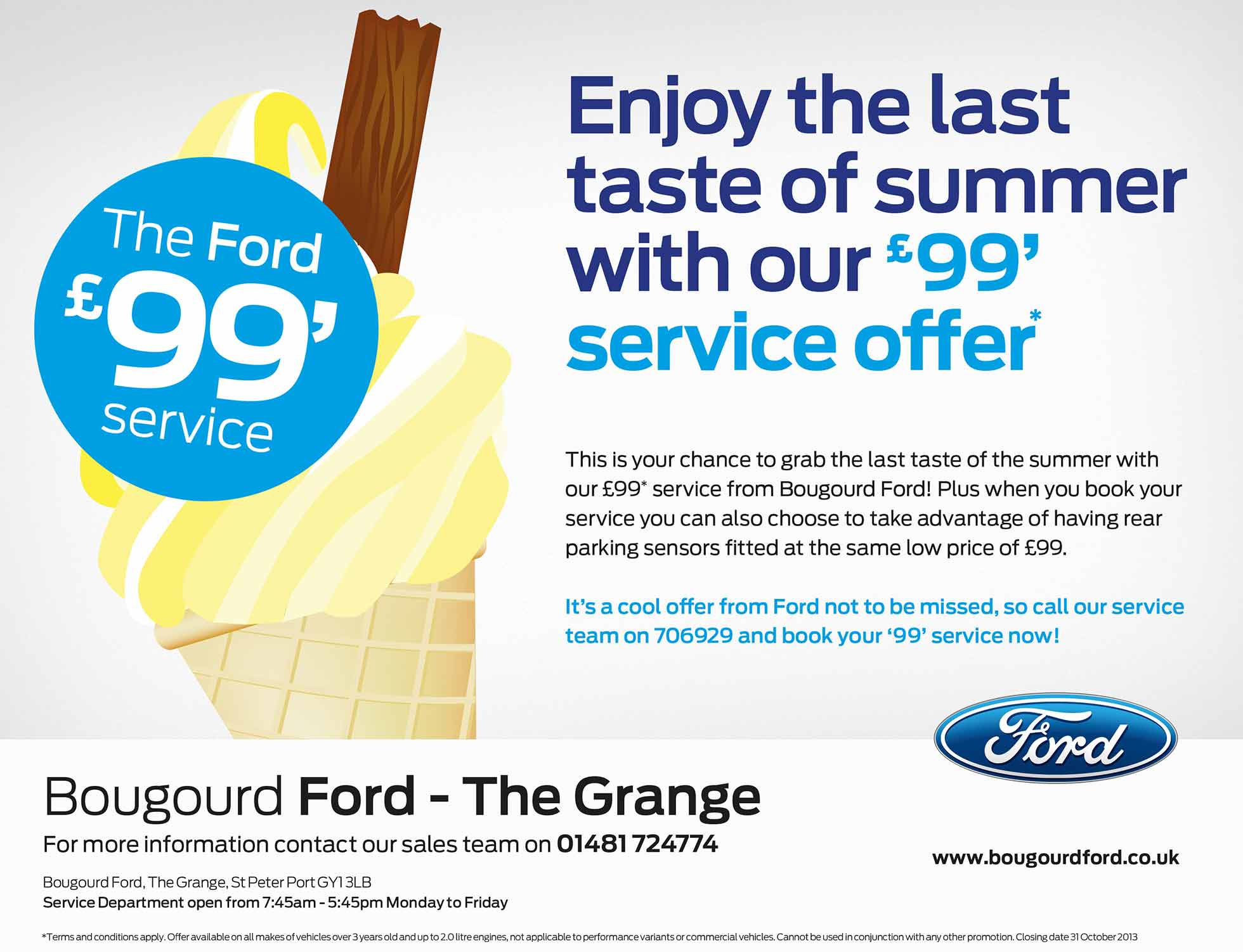 Ford summer service advert