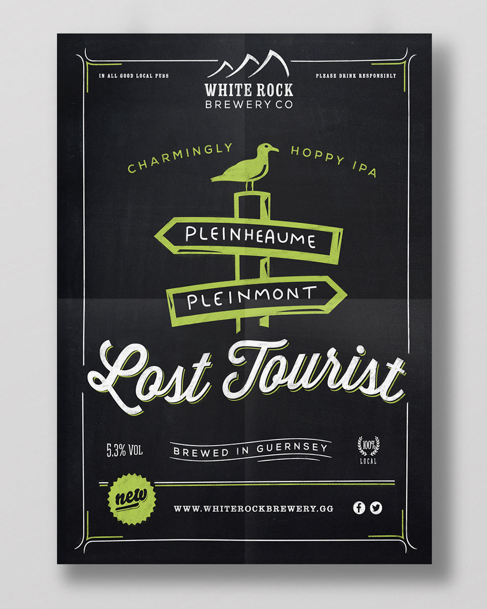 Lost Tourist beer poster design
