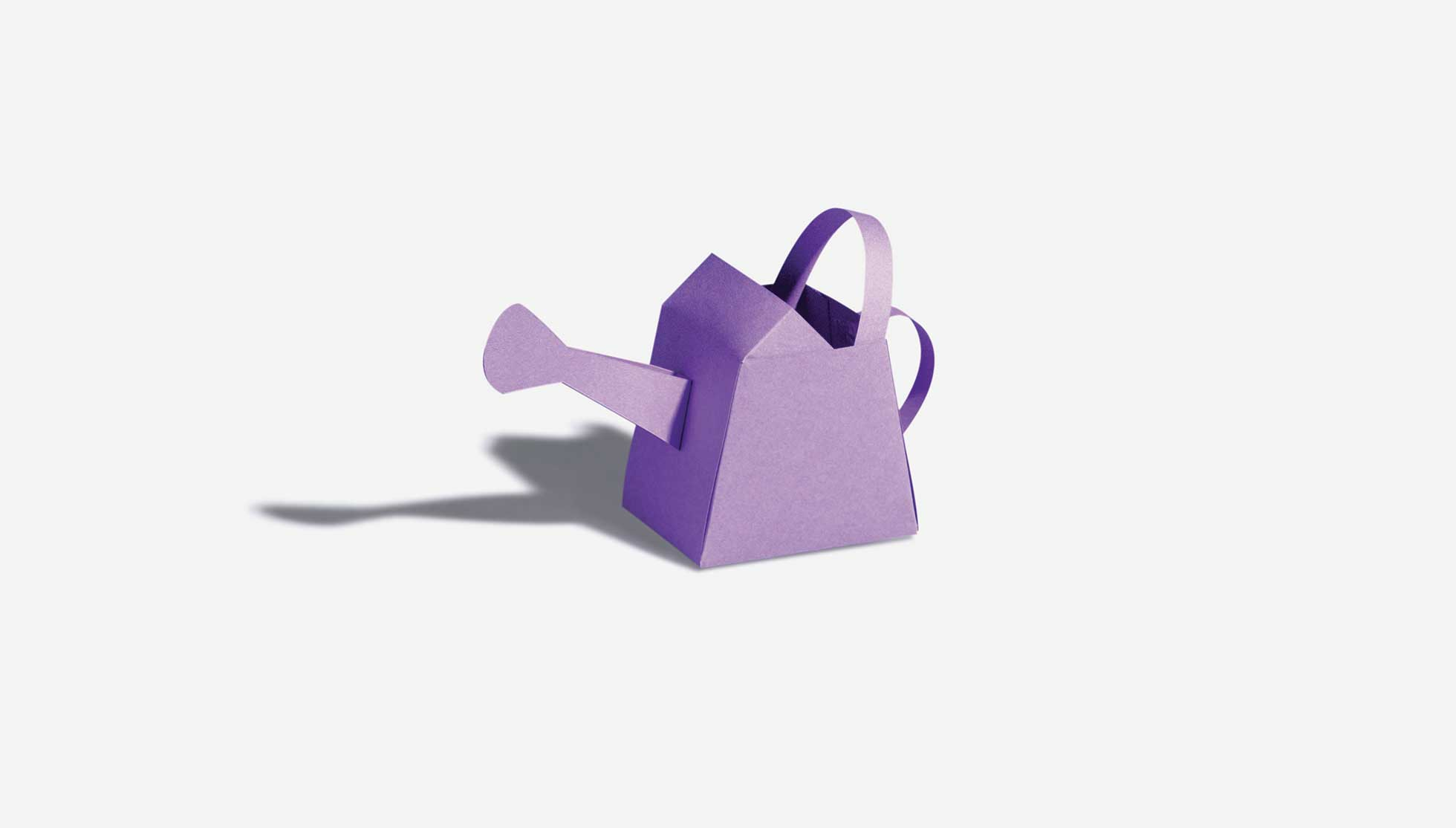 Origami watering can